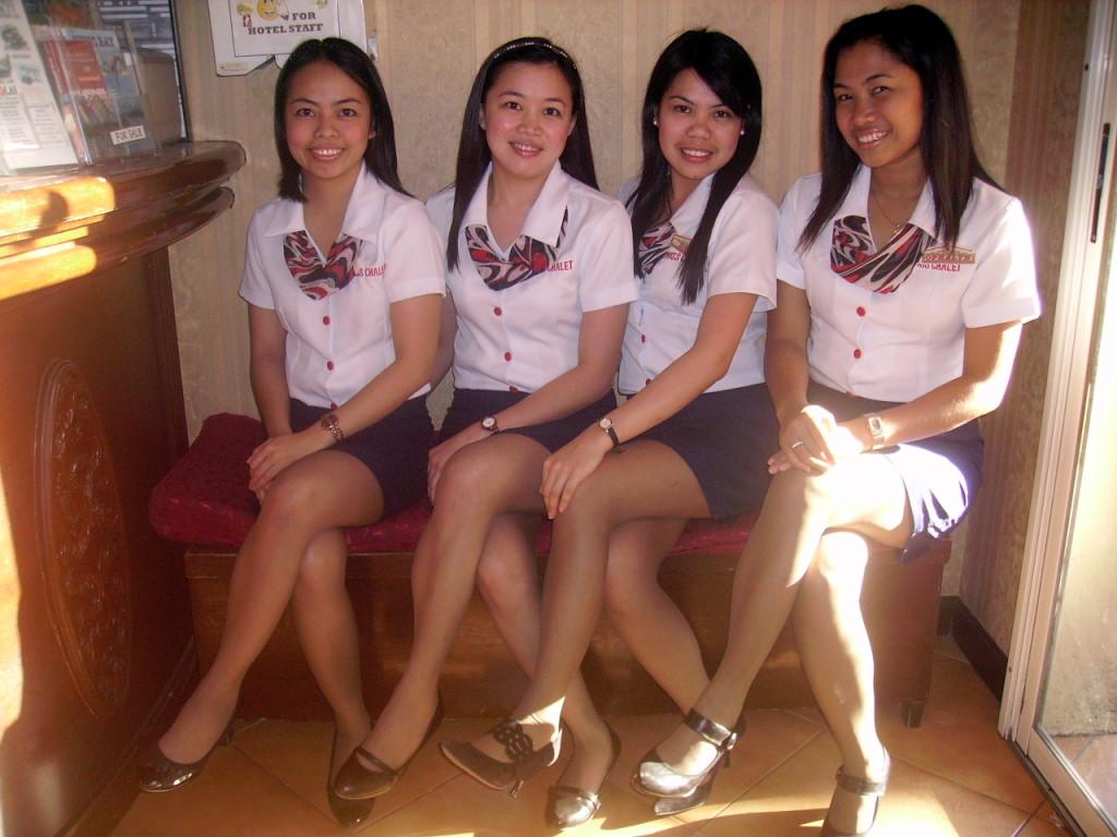 Modern front desk uniforms hostgarcia for Spa uniform in the philippines
